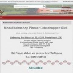 Modellbahnshop Pirnaer Lokschuppen Sick