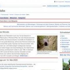 Wikipedia – Portal Bahn