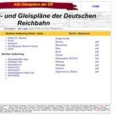 Bahnhofs- und Gleispläne um Berlin