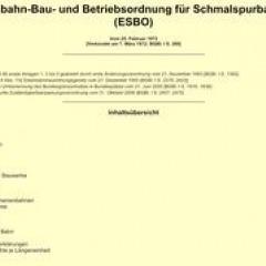Schmalspurbahnen – Eisenbahn-Bau- und Betriebsordnung